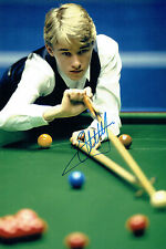 Stephen HENDRY SIGNED Autograph 12x8 Photo AFTAL COA UK SNOOKER Champion