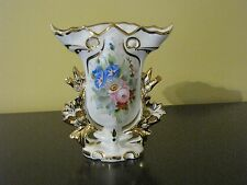 V.A Portugal Porcelain Vase W/Gold Trim and Floral Design
