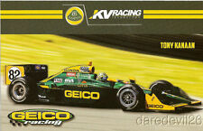"2011 Tony Kanaan Geico Lotus ""2nd issued"" Honda Dallara Indy Car postcard"