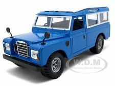OLD LAND ROVER BLUE 1/24 DIECAST CAR MODEL BY BBURAGO 22063
