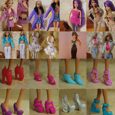 Fashion Party Daily Wear Royal Dress Outfit Clothes Shoes for Barbie Doll Random