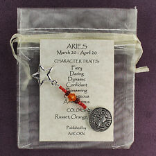 ARIES ZODIAC CHARM Amulet Astrology Stars Sun Signs Planets Horoscope Traits
