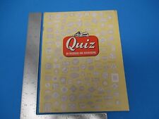 Vintage 1951 Quiz Magazine On Railroads And Railroading 8th Edition  M445