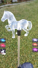 2-Pack Garden Decoration Solar Powered LED Clear Acrylic Horse Yard stake light