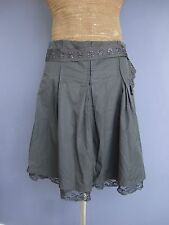 ESSENTIEL Antwerp Designer Grey Pleated Skirt Size 40 UK 12