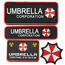 A SET RESIDENT EVIL Red UMBRELLA CORPORATION TACTICAL MORALE Badge Velcro PATCH