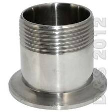 """1.5"""" Sanitary Male Threaded NPT Ferrule Pipe Fitting to 2"""" Tri Clamp SS316"""