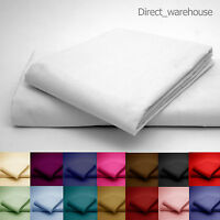 Percale Pillow Cases. Housewife/ Oxford Edge/ Bolster