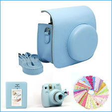 Gmatrix 4 in 1 Fujifilm Instax Mini 8 Case Bag Accessory Bundle Best Gift Blue