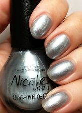 Nicole OPI Nail Polish ALWAYS A SILVER LINING Metallic Silver NEW # NI 414