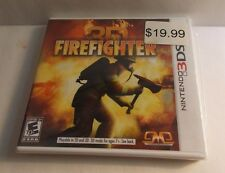 REAL HEROES=FIREFIGHTER 3D (NINTENDO 3DS, 2012) NEW and SEALED (Free shipping)
