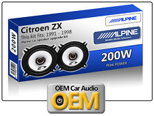 "Citroen ZX Front Door speakers Alpine 13cm 5.25"" car speaker kit 200W Max"
