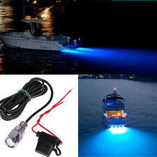 6 LED Blue Underwater Marine Boat Drain Plug Light for Wakeboard Diving/Fishing