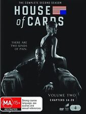 HOUSE OF CARDS, Season 2. BRAND NEW, DVD, Region 4, 4 Disc Set