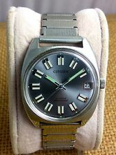Vintage Citizen 63-1230 NOS hand winding watch cal1800 with date Gray 70's