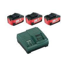 SET METABO 3 BATTERIE 5.2AH CON CARICABATTERIA