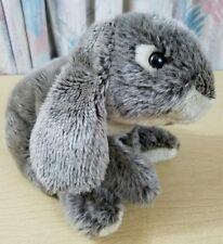 """Animal Alley Bunny Rabbit Soft Cuddly Lop Ear Floppy Gray Plush Stuffed Toy 13"""""""
