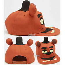 Five Nights At Freddy's FNAF Freddy Fazbear Ball Cap Flat Bill Hat FREE Box Ship