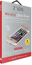 Zagg InvisibleShield Glass Luxe Screen Protector Guard For iPhone 6s 6 Rose Gold