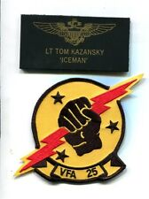 TOM ICEMAN KAZANSKY TOP GUN MOVIE F-14 TOMCAT Squadron Costume Patch Set 2