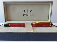 PARKER DUOFOLD  JASPER RED  ROLLERBALL  PEN NEW IN BOX