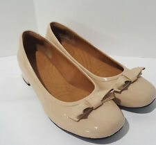 Indigo by Clarks Nude Patent Leather Heels Pumps Shoes Women's Size 6 M