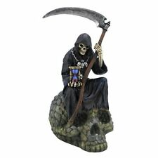 9.5 Inch Statue of Grim Reaper on Skull Santisima Santa Muerte Holy Death Figure
