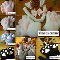 Sexy Flutty Cat Maid Neko Anime Costume Party Cosplay Plush Gloves Paw Ear Tail