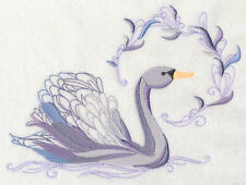 Avian Elegance - Swan SET OF 2 BATH HAND TOWELS EMBROIDERED BY LAURA
