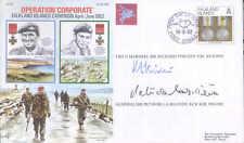 AC60 Islas Malvinas Fdc firmado general de la Billiere DSO Mc & FM Vincent DSO