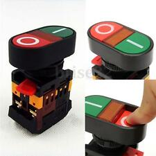 Start Stop Push Button Light Indicator Momentary Switch Red Green Power ON/OFF