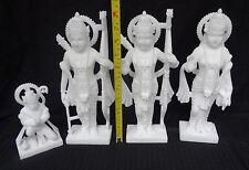 """12"""" Ram HINDU GOD Darbar Ram Sita Laxman Hanuman Marble Statues Religious"""