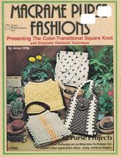 Macrame Purse Fashions 7262 w/ The Color Transitional Square Knot & Diamond Tech