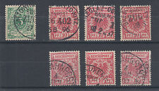 Germany, Sc 47, 48, used.  1889 5pf & 10pf, 7 examples with Railway cancels