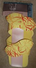 Women's Yellow Bamboo Print Spa Pedicure Slides Shoes One Size