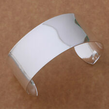noble big silver Plated Fashion Smooth wide cuff Beautiful Bracelet HOT AS139