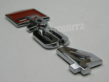 RED CHROME R LINE CAR BADGE AUDI A4 A2 A3 A6 RS4 RS6 A8 S4 S6 S8 S R ALLROAD