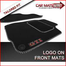 VW Golf MK4 GTI 97-04 Car Floor Mats Silver Trim + Logos (Round Clips) Free P&P