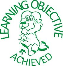Learning Objective Achieved - Self inking teacher reward xstamper stamp