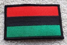 PAN-AFRICAN FLAG PATCH Embroidered Badge Iron Sew 5x7.6cm African American UNIA