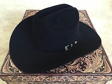 NEW Resistol 20X Black Gold 6 3/4 Cattleman Beaver Felt Cowboy Hat 4 in Brim