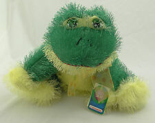 """KID CONNECTION ~ FROG WITH YELLOW RIBBON ~ 9"""" Plush Hi-Mink Beanie Doll ~ NEW"""