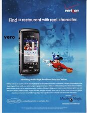 VERIZON 2010 magazine ad print clipping DISNEY PARKS Mobile Magic MICKEY Mouse