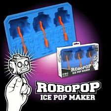 ROBOPOP ICE LOLLY MAKER - 3  x ROBOT HEAD Popsicle SILICONE MOULD