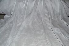 "White Embroidered Cotton Voile Floral Vine Leno Satin Stripe 57"" Wide Fabric BTY"