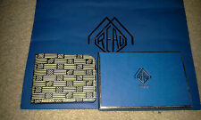 Moreau Paris Mens Bifold Wallet BG2 Black Diligence Monogram NWB 100% Authentic
