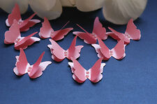 20 CORAL SHIMMER 3D BUTTERFLY WEDDING STATIONERY, CONFETTI, TABLE DECORATION
