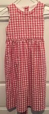 STRASBURG Sleeveless Cotton Red White Embroidered Dress Size 6