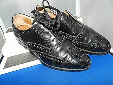 LOAKE -ENGLAND CLASSIC ELEGANT BLACK LEATHER BROGUE SHOES UK 8 EU 42 US 9