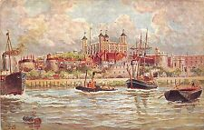 BR61106 ship bateaux painting   tower of london postcard   uk